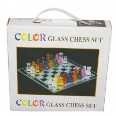 Шахматы из стекла (цветные)